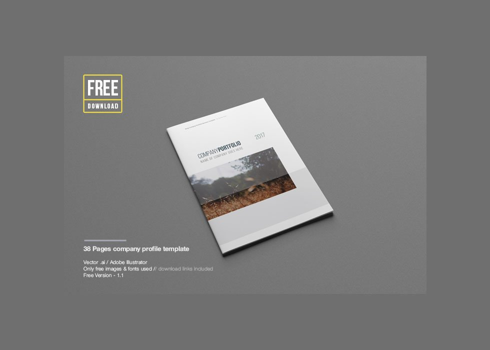 XXLphoto Free Company Profile Template – Free Business Profile Template